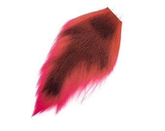 1 (one) dyed Deer Tail : Fluorescent Red