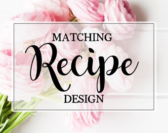 Coordinating Recipe Card Design