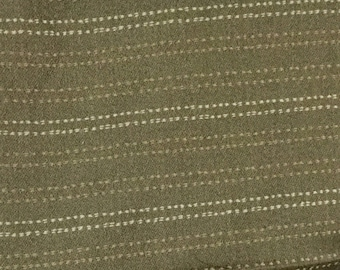 Gray with White & Tan Dotted Stripes - Upholstery Fabric by The Yard