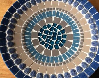 mosaic design bowl,handcrafted bamboo mosaic bowl, mosaic art home decoration, glass mosaic bamboo bowl blue jeans, retro glass mosaic