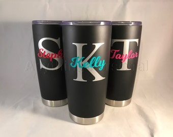 Personalized Stainless Steel Cup, Personalized Stainless Steel Tumbler, Personalized Cup, Personalized Gift, Beach Cup, Bridesmaid Tumbler