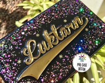 Glitter clutch, hand bag, custom clutch,