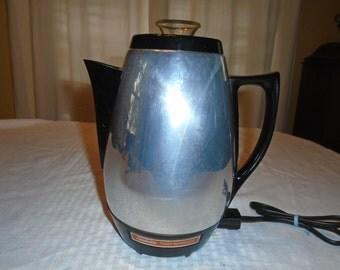 Sunbeam Coffee percolator.  Coffee percolator . Sunbeam .  coffee pot.