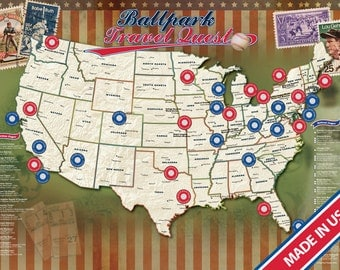 Ballparks Travel Quest Poster