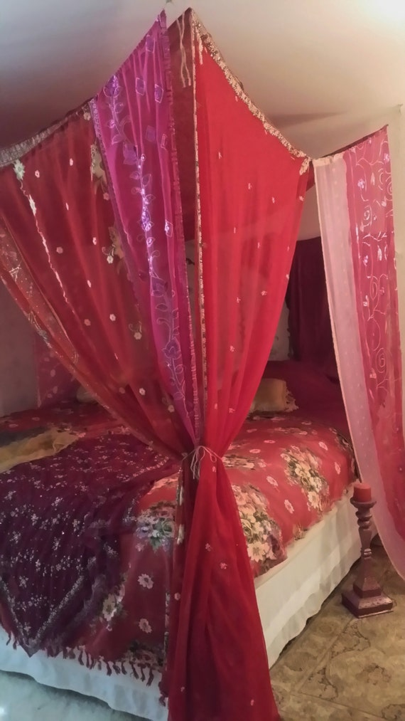 Boho Bed Canopy Gypsy beaded Arabian Nights MADE TO by ...