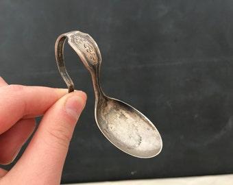 Baby Spoon - Vintage Sterling Silver Baby Spoon - Monogramed Spoon - R.B.L. - Display - Prop - Sterling Spoon - Infant Spoon - Repurpose