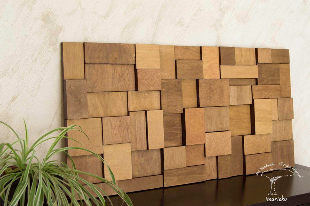 Escultura de pared decoraci n de pared mosaico madera - Mosaico de madera ...