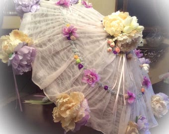 Shower Umbrella, bridal Shower, BabyShower umbrella  ONE OF A KIND  bridal shower umbrella