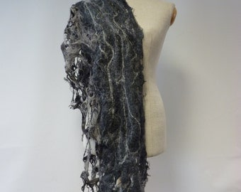 Special price. Delicate handmade grey scarf. Perfect for gift.