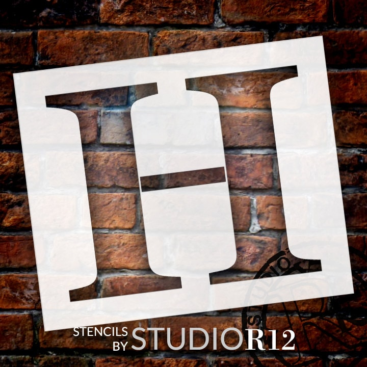 Classic Serif Letter Stencil - H - Select Size - STCL1721 - by StudioR12