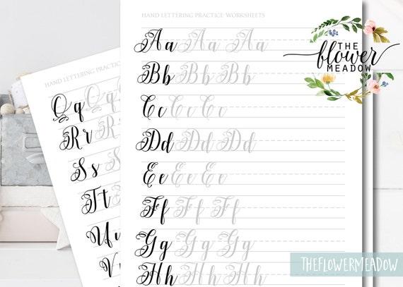 Learn Calligraphy Brush Alphabet Hand Lettering Guide Brush