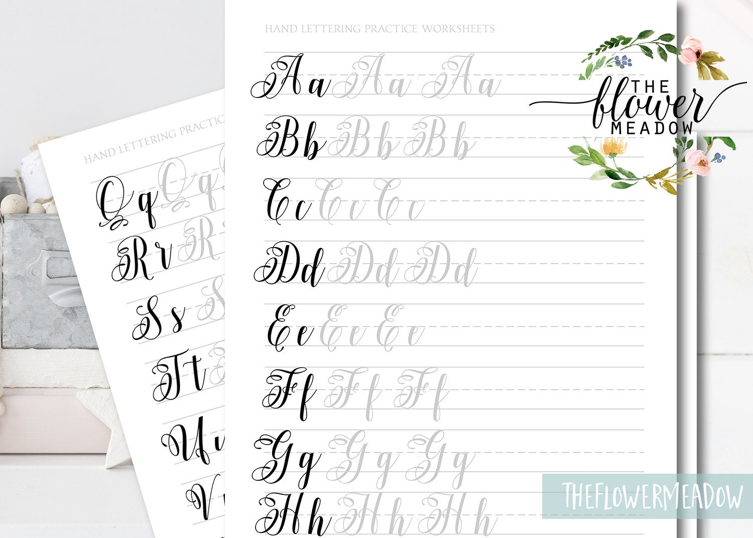 Learn calligraphy brush alphabet hand lettering guide Where to learn calligraphy