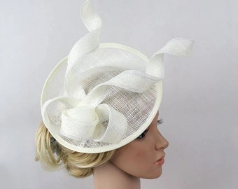 Weddig ivory fascinator party fascinator event fascinator ivory fascinator clip/headband