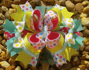 Over the Top Boutique Hairbow, Hairbows, baby hairbows, baby headbows, headbows, littlr girl hairbows, little girl headbows
