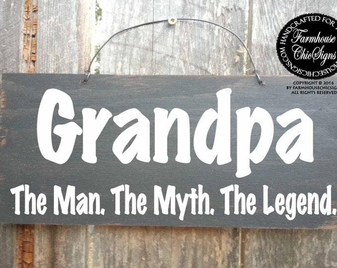 fathers day gift, fathers day, grandfather gift, grandpa gift, grandpa sign, Grandpa The Man The Myth The Legend, grandfather gift, grandpa