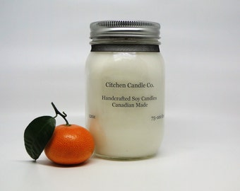 12oz Sweet Orange Scented Soy Candle