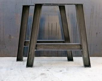 pieds de table m tal industrielle paisseur 2 x 2. Black Bedroom Furniture Sets. Home Design Ideas
