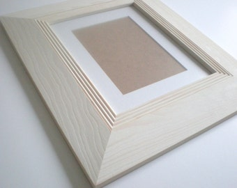 """Picture frame 13x19"""" Photo frame 33x48cm modern rustic frame wood frame craft wide frame  RusticFrameShop"""