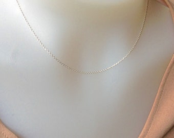 Sterling Silver Chain 16 inch- 1.2mm sterling silver necklace , Sterling Silver necklace, 925 silver, delicate chain