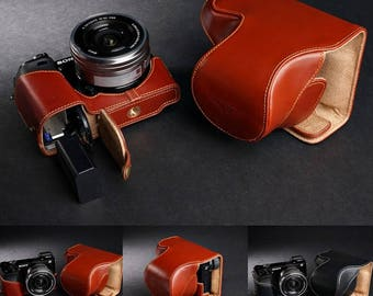 Sony A6000 Leather Cameras Case, A6000 full Camera Case, Sony A6000 full body Case, Handmade Leather Camera Protector