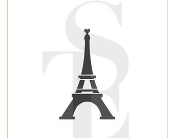 Eiffel Tower Stencil