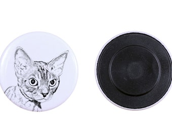 Magnet with a cat -Devon rex