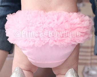 Pink Baby Bloomers, Birthday Bloomers, Ruffle Baby Bloomers, Baby Girl Clothing, Diaper Covers, Baby Girl Bloomers, Pink Ruffled Bloomers