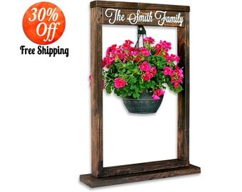 Front porch decor.outdoor decor.outdoor planters.patio decor.front door decor.outdoor garden decorations.front porch sign (Plant Stand)