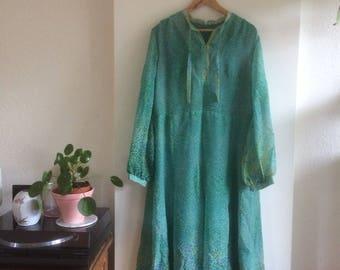 Vintage dress | vintage maxidress| 70's dress