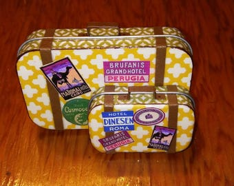 Altered Altoid Tin Miniature Matched Luggage Set