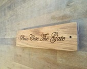 Natural Oak Wood House Signs 28cm x 7cm Personalised for you with any details - Made by Master Craftsmen WORLDWIDE DELIVERY
