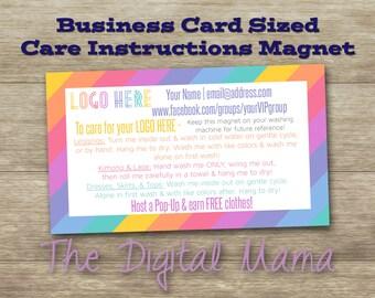 Leggings Care Instruction Magnet - Clothing Care Instructions Business Card - Clothing Care Instructions Post Card - Digital Download