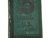 Swinton's Condensed U.S. History Book, Antique Book, 1871 Book, History Book, US History Book, Shelf Decor, Vintage History Book