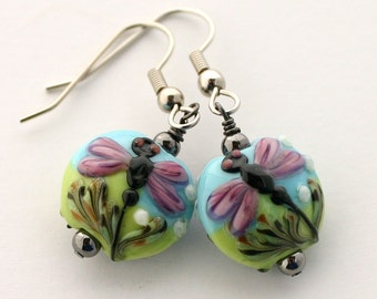 Her colorful earring, gift idea