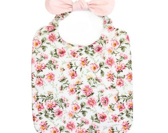 Bib with bow - floral
