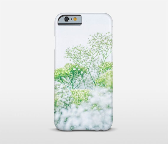 Floral iPhone 7 Case, White And Green, Floral Phone Cases, Samsung, HTC Phone Case, Xperia, iPhone Plus Cases and more