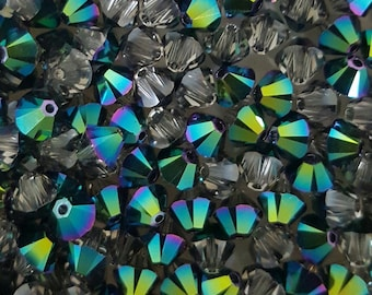 SCARABAEUS - Swarovski 6mm Bicone Crystal Beads - Select 10, 20 or 50