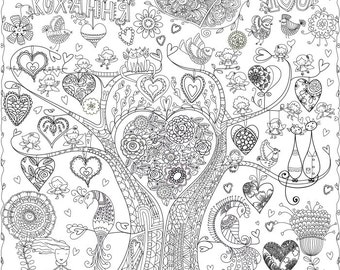 "Coloring poster ""Love"" size 60*60cm"