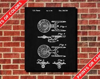 Star Trek Poster Starship Enterprise Art Design Star Trek Print Starship Enterprise Blueprint Vintage Star Trek Decor Starship Blueprint