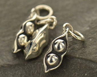 Sterling Silver Two Peas in a Pod Charm