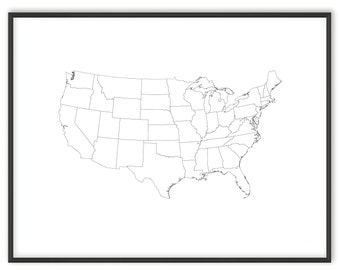 Usa map coloring Etsy