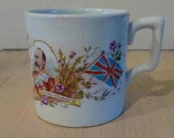 1902 King Edward VII Coronation Mug