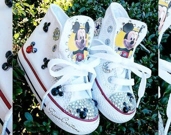Custom Toddler Mickey Mouse Converse
