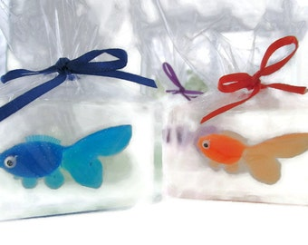 20 fish in a bag soap party favors scented unscented fun kids soap favors ocean themed under the sea  birthday party soap favors bathtub fun