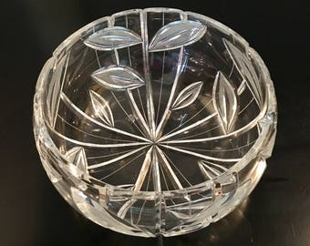 Vintage Crystal Fruit Bowl