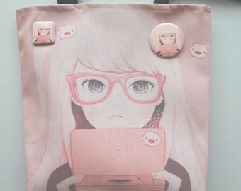 GameGirl girl tote bag