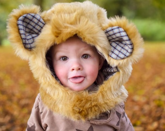 MBJM Charlie Bear and Friends Hood (and Hooded Scarf) PDF Sewing Pattern: Age 1- XL Adult