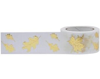 Autumn Leaves Gold Foil Washi Tape Little B Autumn Washi Tape Gold Leaves Thanksgiving Washi Tape Planner Embellishment Art Journaling