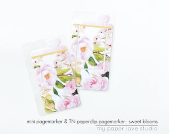 Mini Page Markers & TN Paperclip Page Markers / Planner Kit Collection : Sweet Blooms (Special Edition)