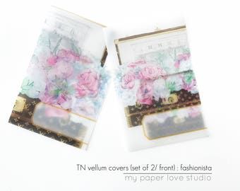 Vellum TN Traveler Notebook Covers / Planner Dashboards : Fashionista